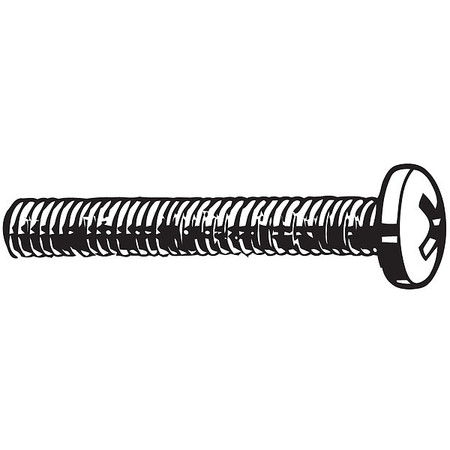 "#6-32 x 1/2"" Pan Head Phillips Machine Screw,  100 pk."