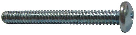 "#10-32 x 3/8"" Pan Head Slotted Machine Screw,  100 pk."
