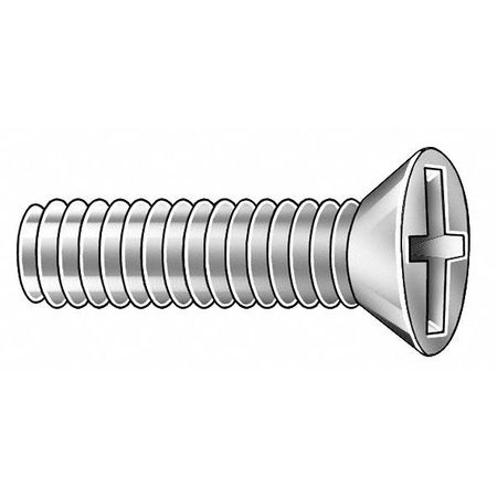 "#4-40 x 1/4"" Flat Head Cross Recessed Phillips Machine Screw,  50 pk."