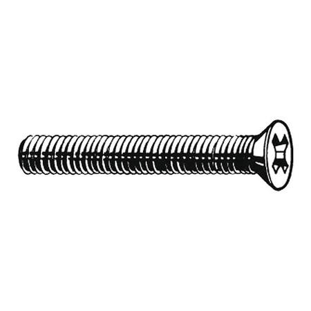 "#6-32 x 1"" Flat Head Phillips Machine Screw,  100 pk."
