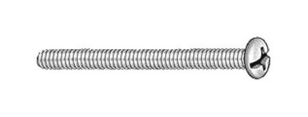 "#4-40 x 1/2"" Round Head Combination Slotted/Phillips Machine Screw,  100 pk."
