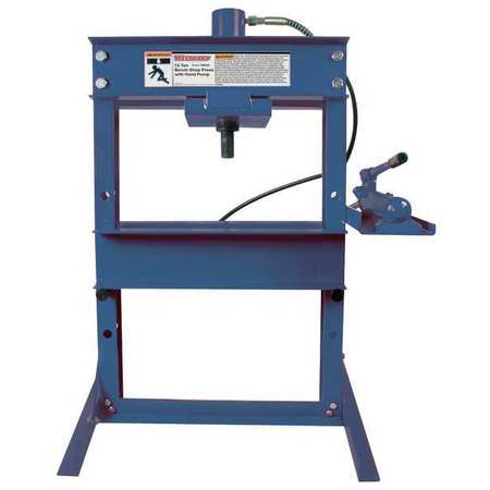 Westward hydraulic bench shop press 12 tons 1mzj7 Hydraulic bench press