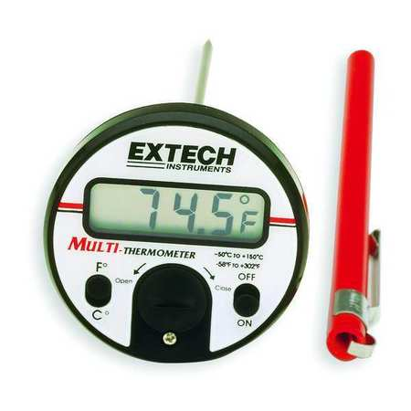 Digital Pocket Thermometer, 5 In., Plastic