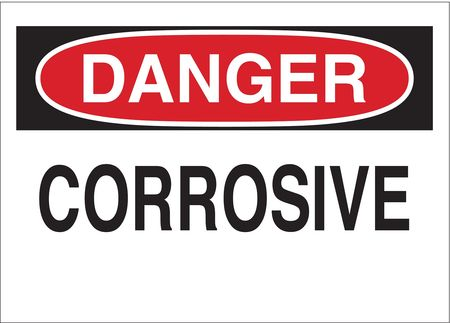 Danger Sign, 10 x 14In, R and BK/WHT, CRSV