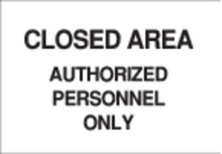 Admittance Sign, 10 x 14In, BK/WHT, ENG
