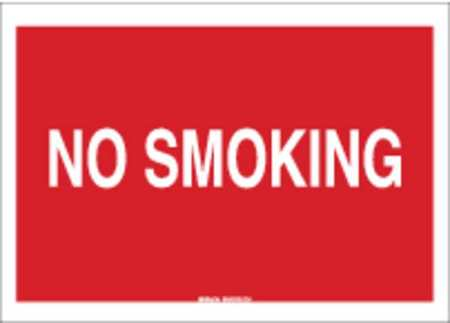 No Smoking Sign, 7 x 10In, WHT/R, ENG, Text