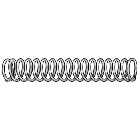 Compress Spring, Stl, 1.5 In L, PK12
