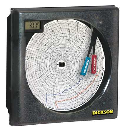 Circular Recorder, Temp and Humidity, 6 In