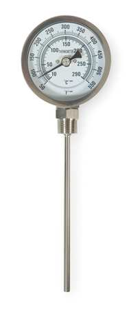 Bimetal Thermom, 3 In Dial, 50 to 550F