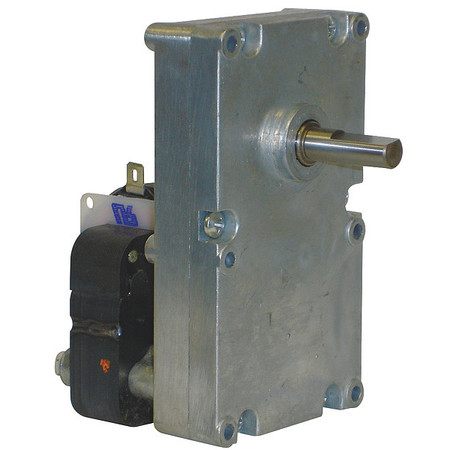 AC Gearmotor, 6 rpm, Open, 115V