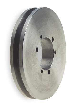 "1/2"" - 2-5/8"" Bushed Bore 1 Groove V-Belt Pulley 19"" OD"