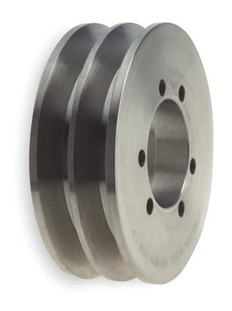 "1/2"" - 1-11/16"" Bushed Bore 2 Groove V-Belt Pulley 5.3"" OD"