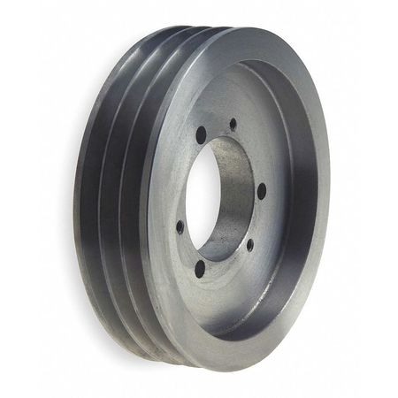 "1/2"" - 2"" Bushed Bore 3 Groove V-Belt Pulley 5.9"" OD"