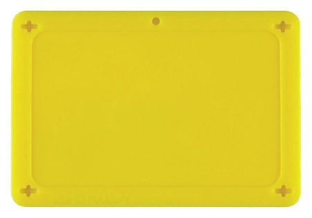 Blank Tag, 2-1/2 x 4 In, Yel, Plstc