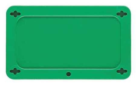 Blank Tag, 1-1/2 x 3 In, Grn, Plstc