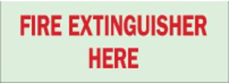 Fire Extinguisher Sign, 5 x 14In, R/GRN