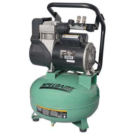 Air Compressor, 1.8 HP, 120V, 125 psi
