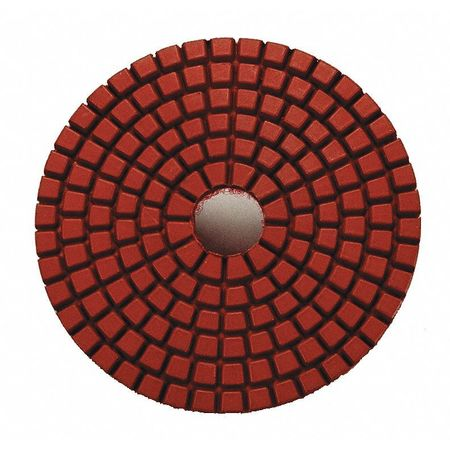 Dry Concrete Polishing Pad, 3 In, Red, PK9