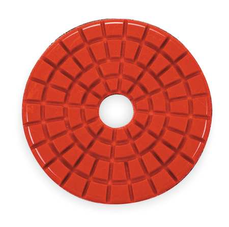 Stone Polishing Pad, 3 In, Red, PK5