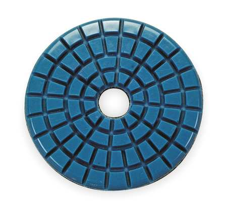 Stone Polishing Pad, 3 In, Blue, PK10