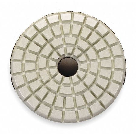 Stone Polishing Pad, 3 In, Beige, PK5