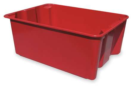 Stacking & Nesting Container, HD, Red