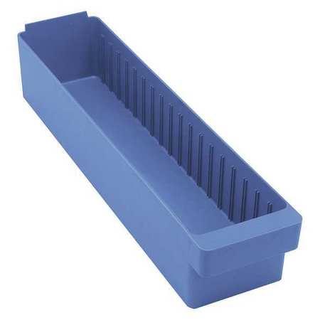 Drawer Bin, 23-7/8x5-9/16x4-5/8 In, Blue