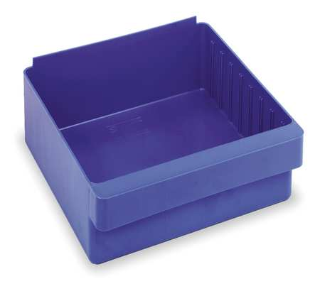 Drawer Bin, 11-5/8x11-1/8x4-5/8 In, Blue