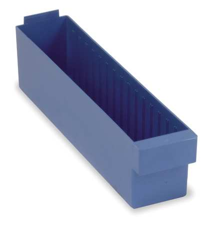 Drawer Bin, 17-5/8 x 3-3/4 x 4-5/8In, Blue