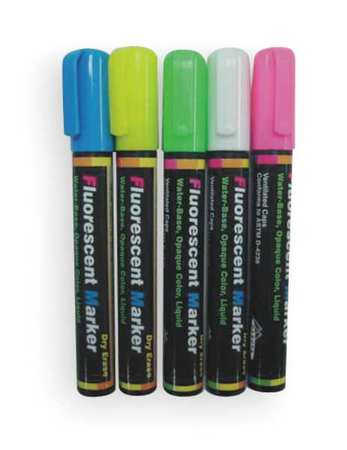 Dry Erase Marker Set,  Assorted Colors PK5
