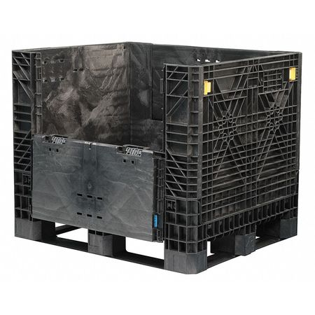 Collapsible Bulk Container, 48x40 In, Bl