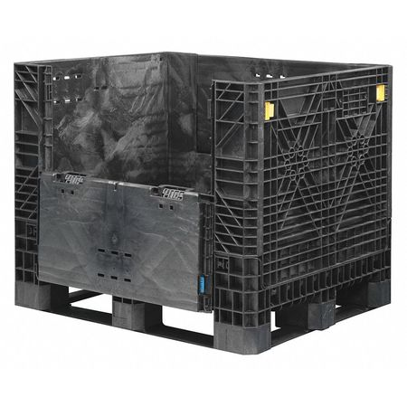 Collapsible Bulk Container,  48x40 In,  Black