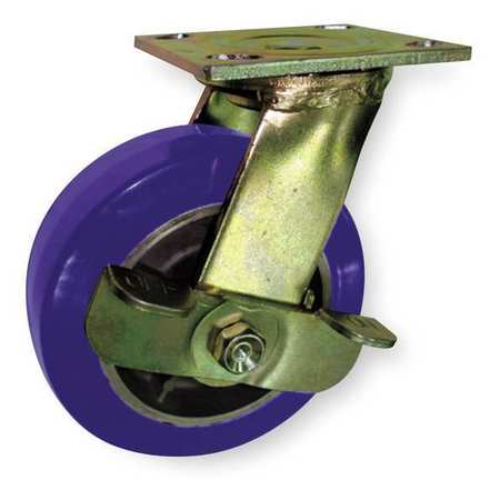 Swivel Plate Caster, Poly, 4 in., 750 lb.
