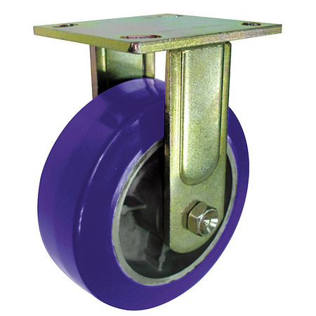 Rigid Plate Caster, Poly, 5 in., 1050 lb.