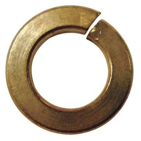 "1/2"" x 0.869"" OD Silicon Bronze Plain Finish Standard Split Lock Washers,  50 pk."