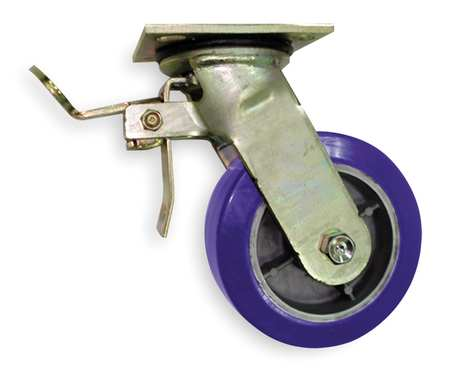Swivel Plat Caster, Poly, 5 in., 1050 lb., B