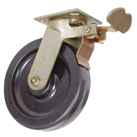Swivel Plate Castr, Phnolic, 6 in, 1200 lb