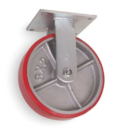 Rigid Plate Castr, Poly, 5 in., 1050 lb., Rd