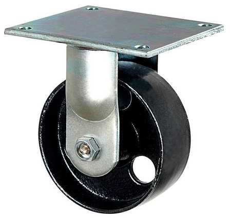 Rigid Plate Castr, Cast Iron, 5 in, 1200 lb
