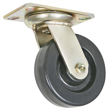 Swivel Plate Caster, Phnolic, 6 in, 1650 lb