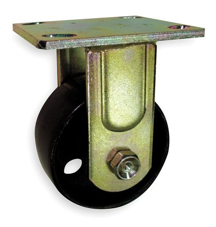 Rigid Plate Caster, Steel, 4 in., 1000 lb.