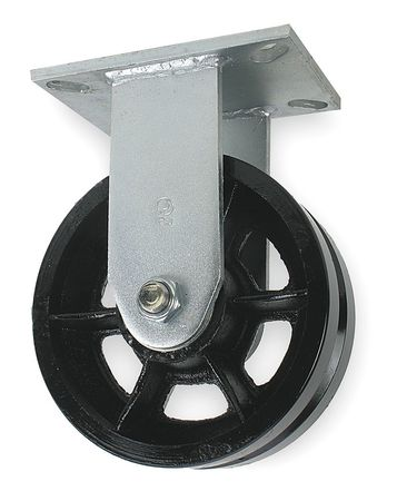 V-Grve Rgd Cstr, Cast Iron, 8 in., 2800 lb.