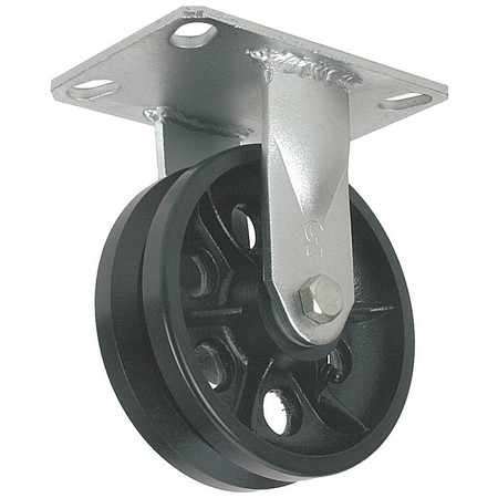 V-Grve Rgd Castr, Cast Iron, 5 in., 900 lb.