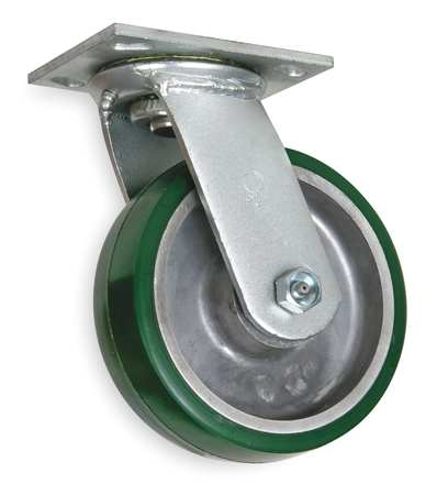 Swivel Plate Castr, Polyrthan, 4 in, 700 lb