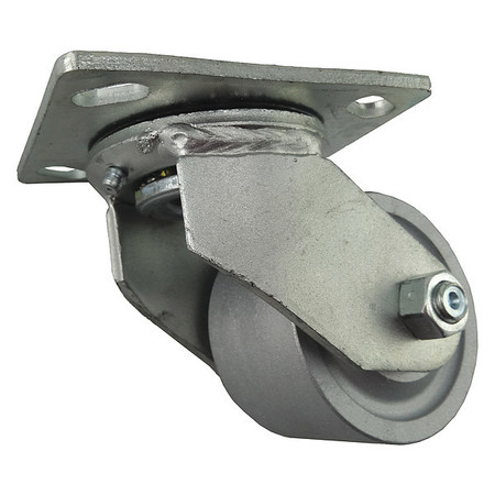 Swivel Plate Casters - Iron Wheels
