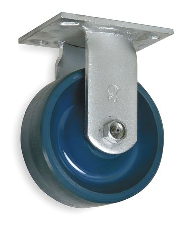 Rigid Plate Caster, Polye, 4 in., 1000 lb.
