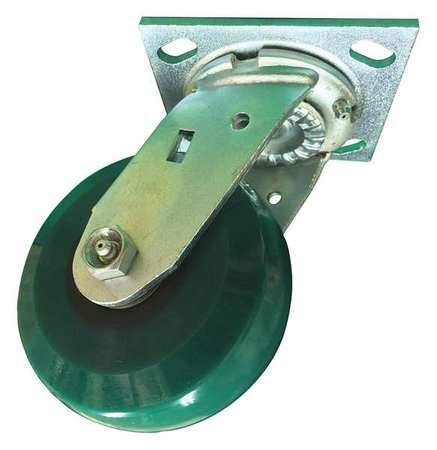 Swivel Plate Caster, Poly, 4 in., 1000 lb.