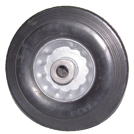 Solid Rubber Wheel, 6 in., 300 lb.