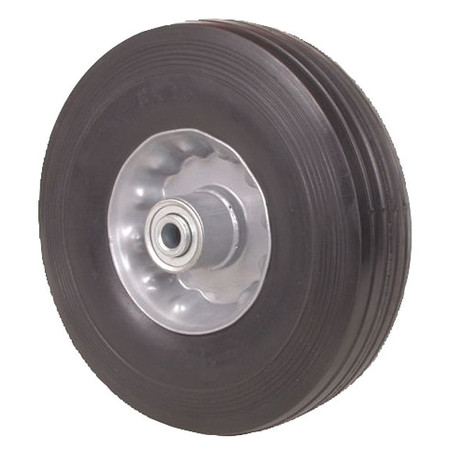 Solid Rubber Wheel, 6 in., 200 lb., Symmtrc