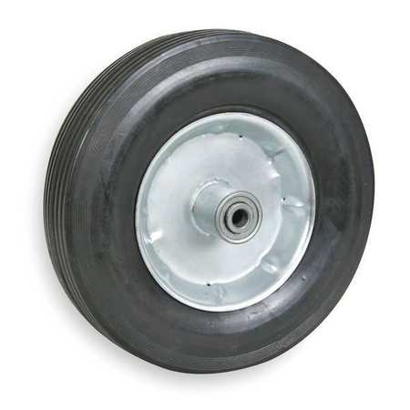 Solid Rubber Wheel, 10 in., 300 lb.